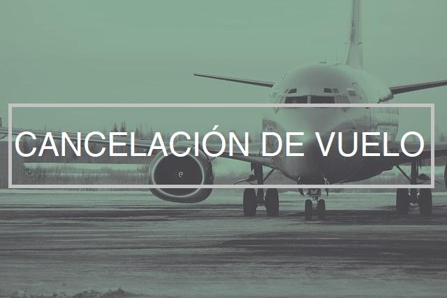 cancelacion de vuelo