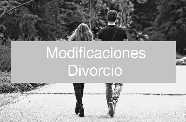 Modificaciones en el convenio regulador de divorcio